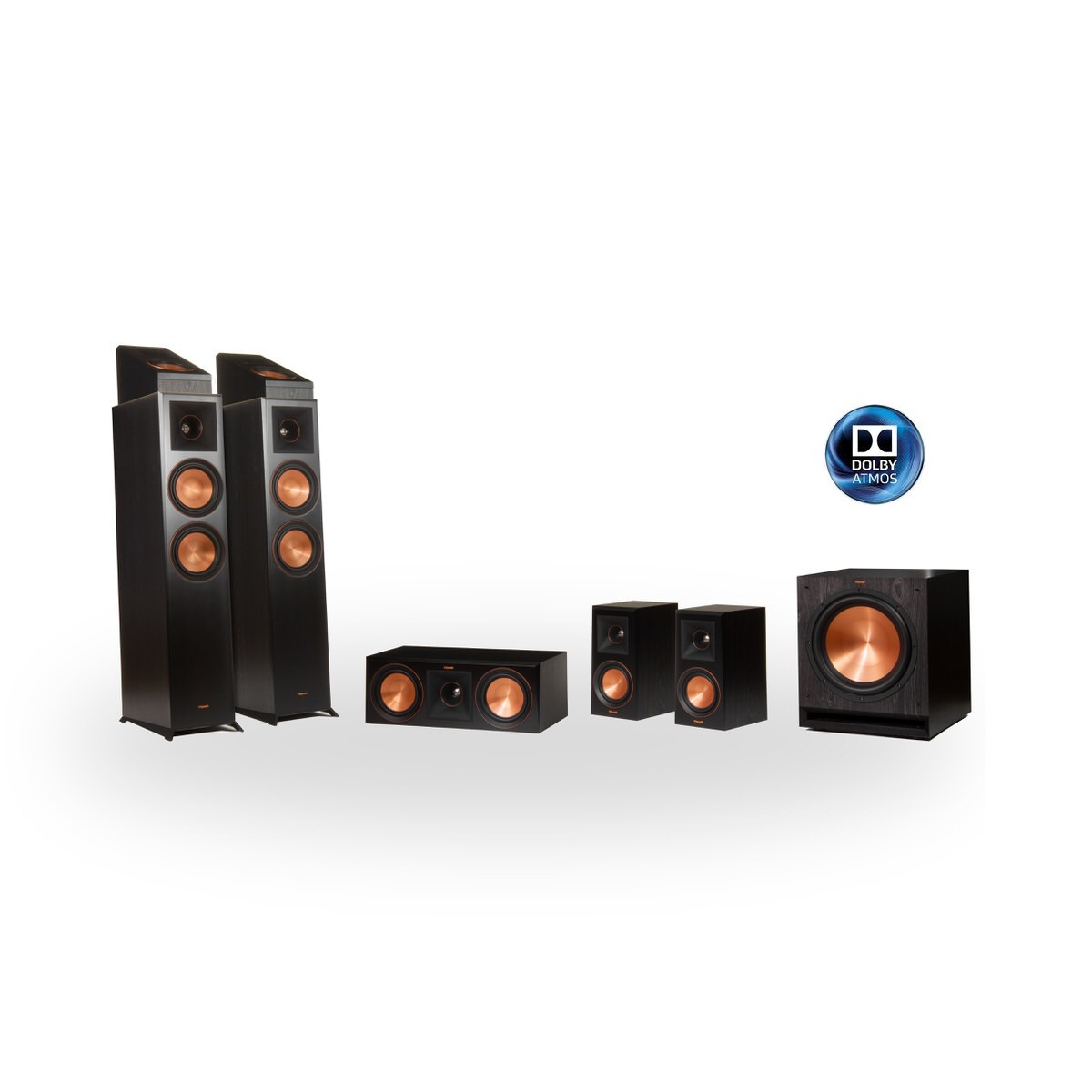 Klipsch Reference Premier RP-6000F 5.1.2 Dolby Atmos Home Theater System (Black)