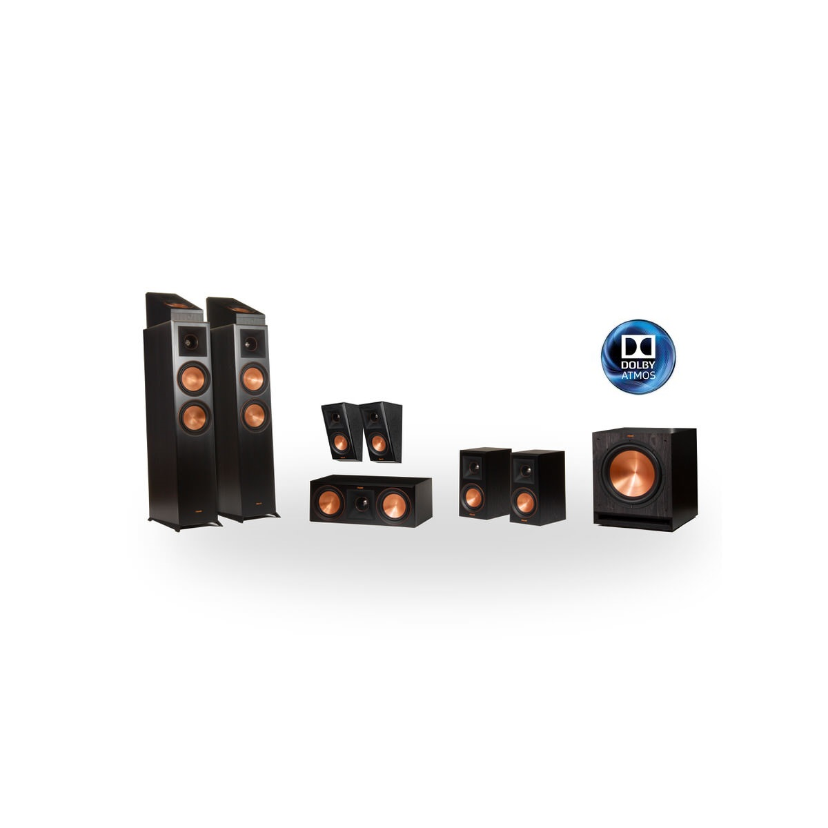 Klipsch Reference Premier RP-6000F 7.1.2 Dolby Atmos Home Theater System (Black)