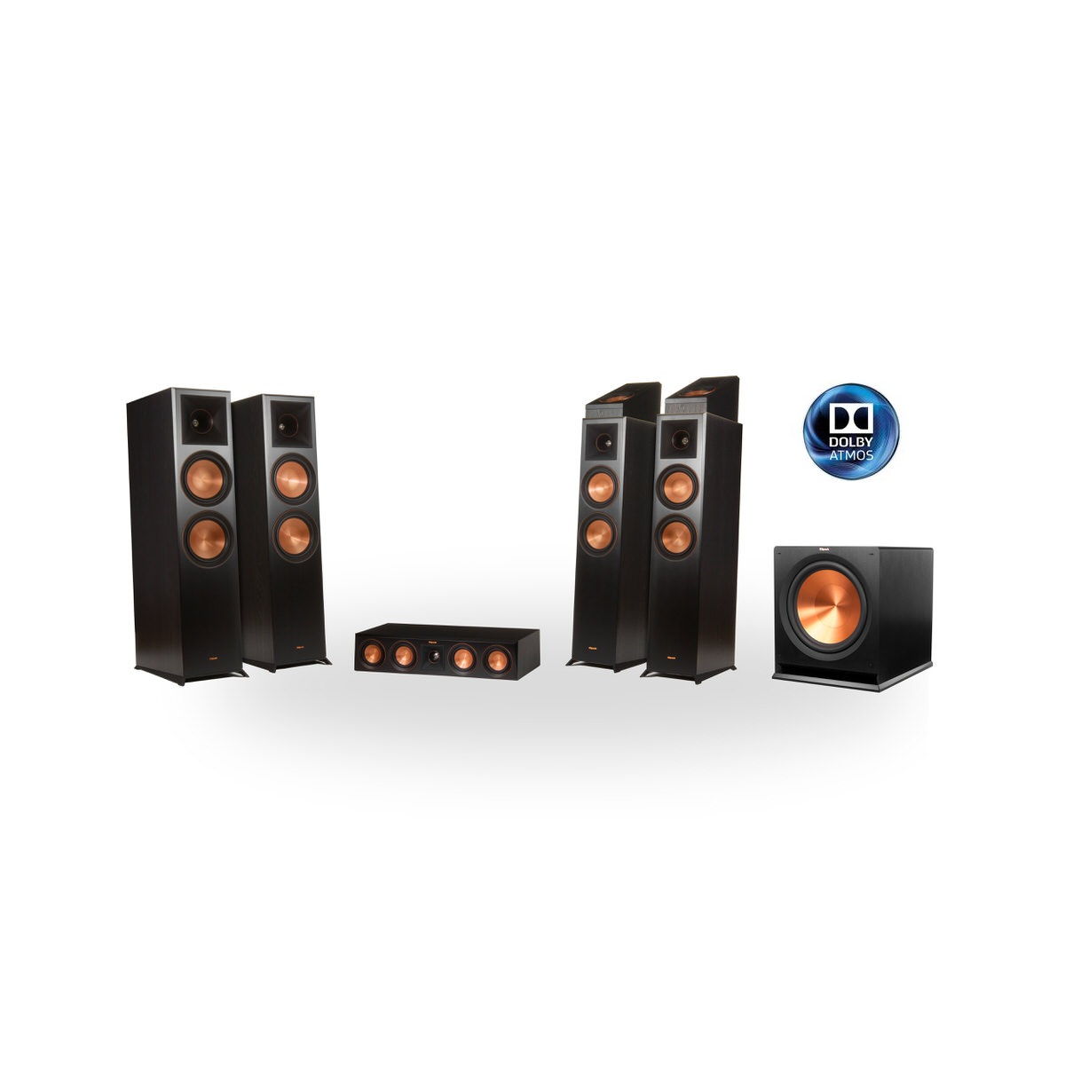 Klipsch Reference Premier RP-8000F 7.1.2 Dolby Atmos Home Theater System (Black)