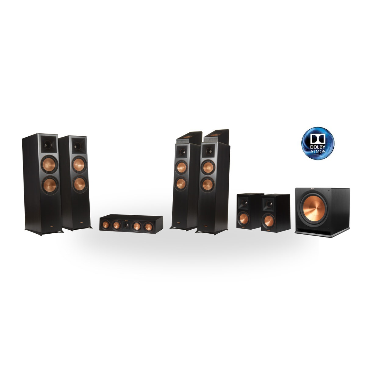 Klipsch Reference Premier RP-8060FA 7.1.4 Dolby Atmos Home Theater System (Black)