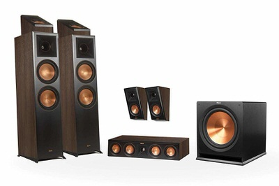 Klipsch Reference Premier RP-8000F 5.1.2 Dolby Atmos Home Theater System (Walnut)