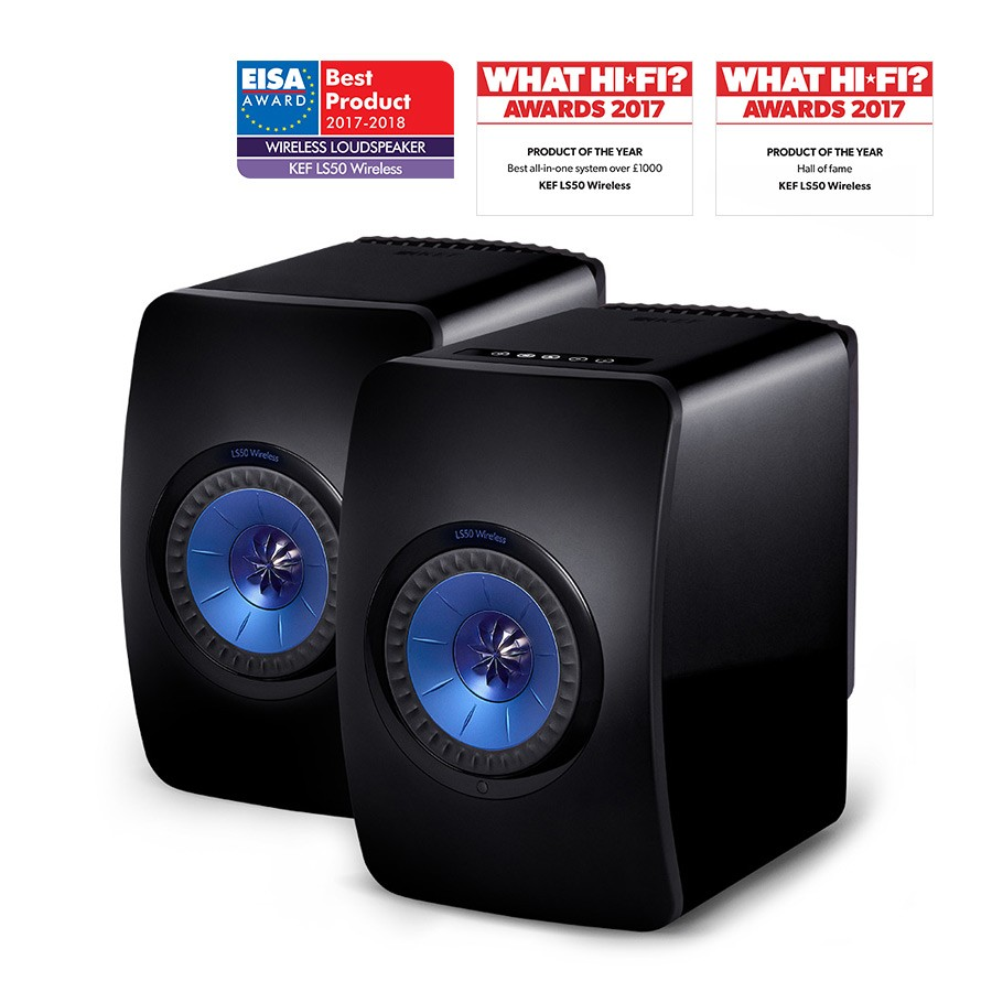 KEF LS50 Wireless Monitor Speakers (Black)