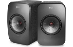SOLD OUT - KEF LSX Wireless Stereo Speaker System with Bluetooth, Wi-Fi, Optical Input & Subwoofer Output - Black
