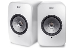 HURRY ONLY 1 PAIR Remaining: KEF LSX Wireless Stereo Speaker System with Bluetooth, Wi-Fi, Optical Input & Subwoofer Output - Gloss White