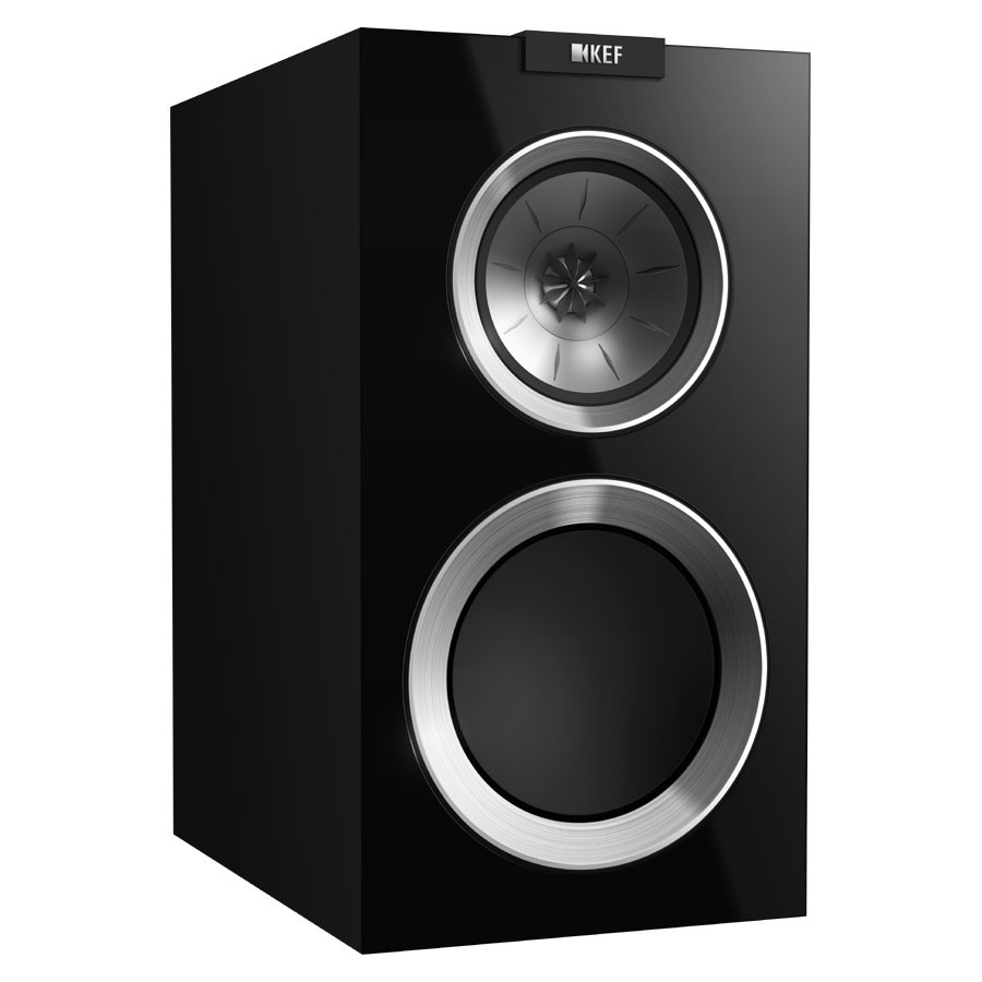 KEF R300 Bookshelf Speaker - Piano Black (Pair)