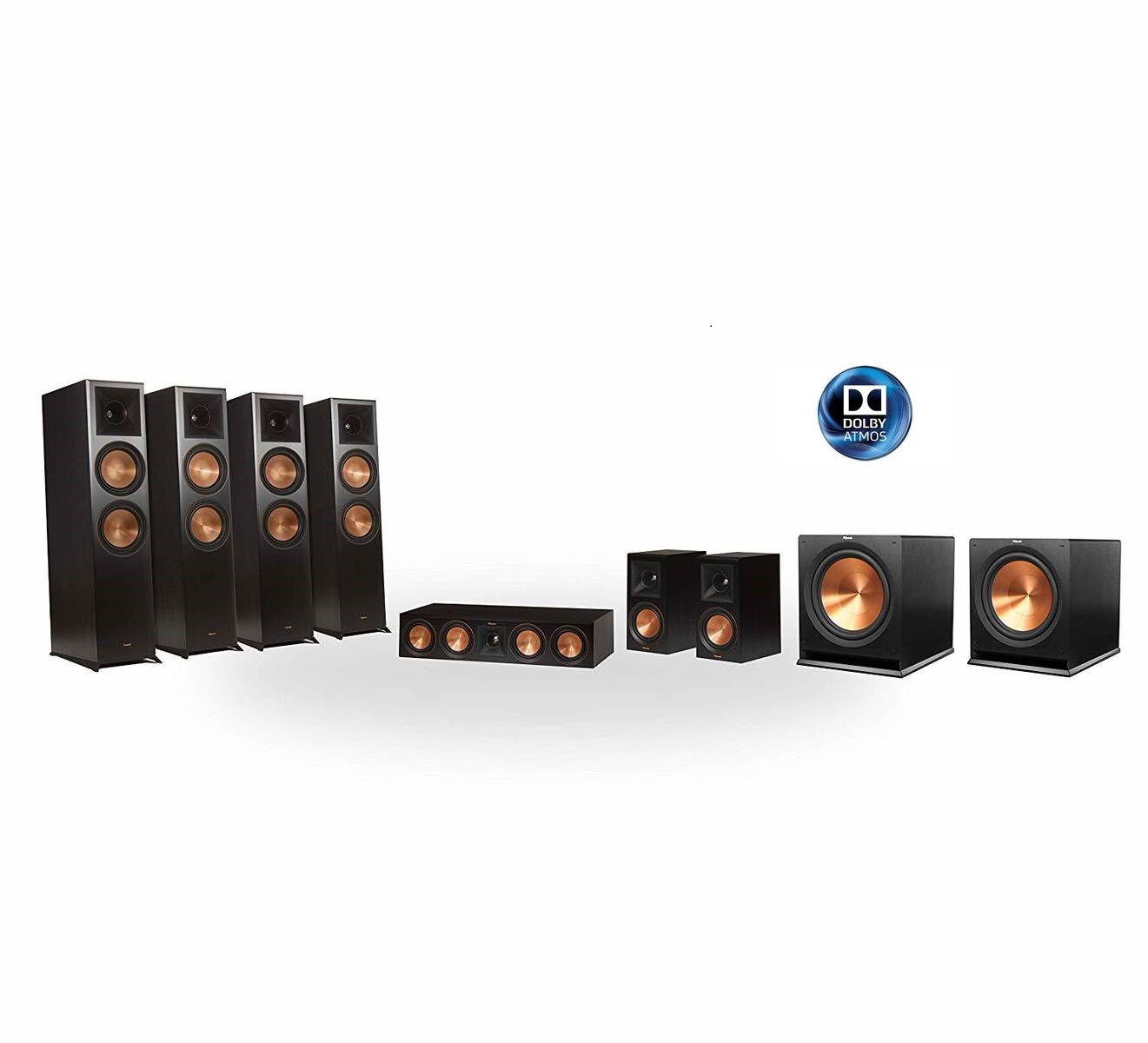 Klipsch Reference Premier RP-8060FA 7.2.4 Dolby Atmos Home Theater System (Walnut)