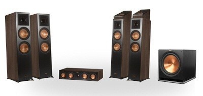 Klipsch Reference Premier RP-8060FA 5.1.4 Dolby Atmos Home Theater System (Walnut)