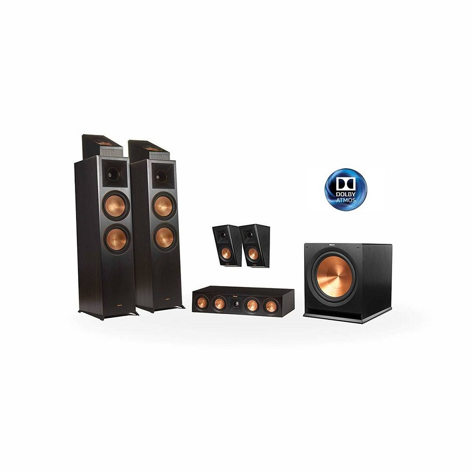 Klipsch Reference Premier RP-8000F 5.1.2 Dolby Atmos Home Theater System (Black)